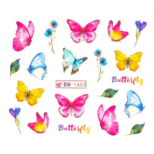 Poze Tatuaj Unghii Butterfly BN-1653, LUXORISE