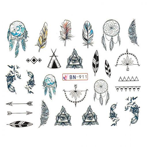 Poze Tatuaj unghii Dream Catcher BN-911, LUXORISE