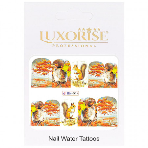 Poze Tatuaj unghii GoldenFall BN-514, LUXORISE
