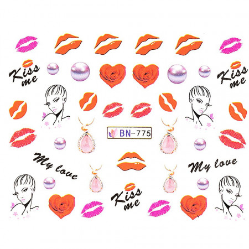 Poze Tatuaj unghii Love BN-775, LUXORISE