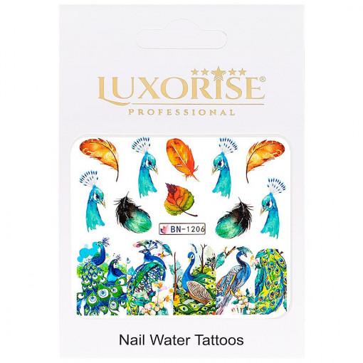 Poze Tatuaj unghii Peacock BN-1206, LUXORISE