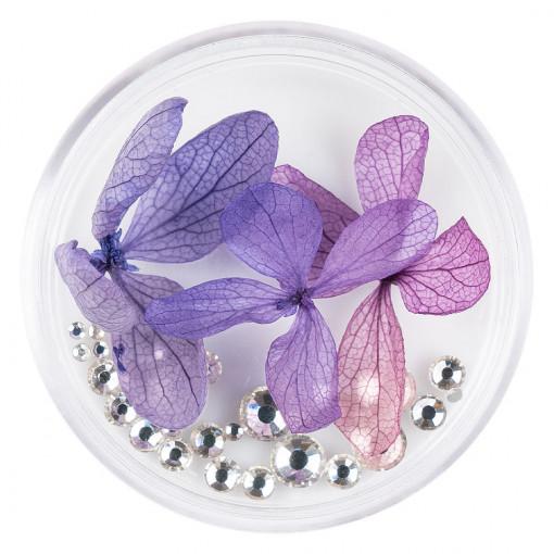 Poze Flori Uscate Unghii cu cristale - Floral Fairytale #19 LUXORISE