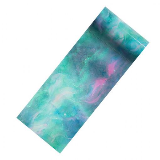 Poze Folie Transfer Unghii LUXORISE Turquoise Watters #304