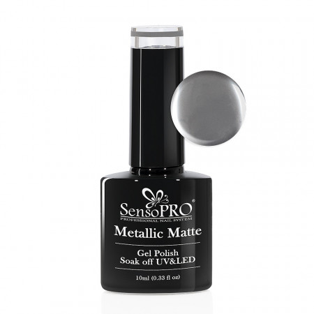 Poze Oja Semipermanenta Metallic Matte SensoPRO #01 Mirror Nails, 10ml
