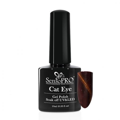 Poze Oja Semipermanenta SensoPRO Cat Eye Energetic Brown #042, 10ml