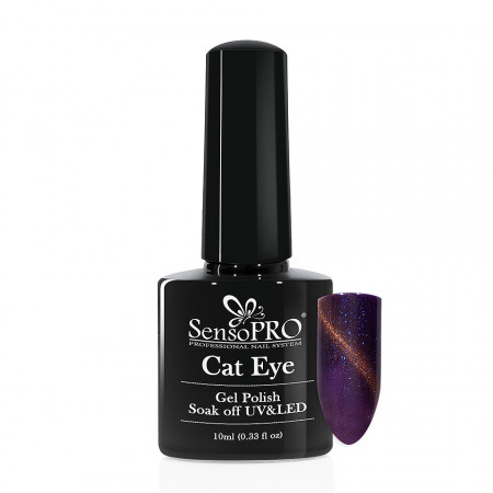 Poze Oja Semipermanenta SensoPRO Cat Eye Mauve Glare #032, 10ml
