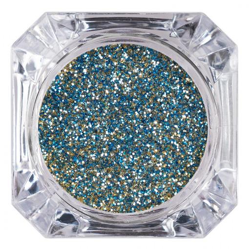 Poze Sclipici Glitter Unghii Pulbere Blue Glow #53, LUXORISE