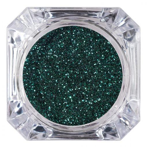Poze Sclipici Glitter Unghii Pulbere Deep Green #07, LUXORISE