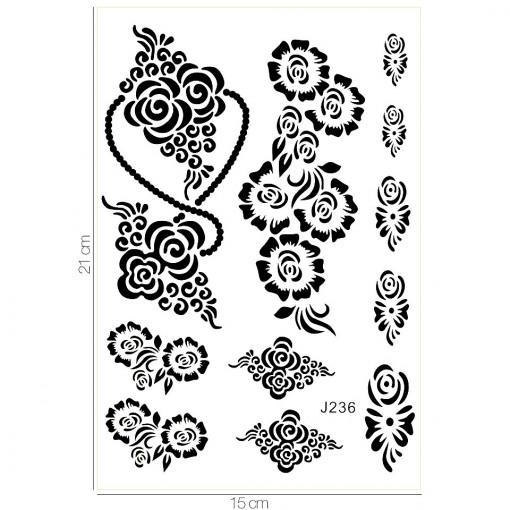 Poze Tatuaj Temporar LUXORISE Flower Goddess J236