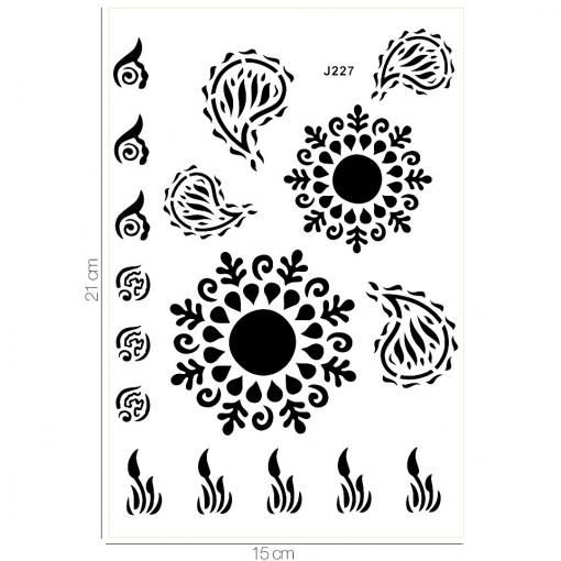 Poze Tatuaj Temporar LUXORISE Soul On Fire J227