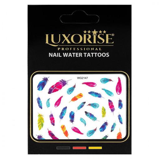Poze Tatuaj unghii Feather WG2147, LUXORISE