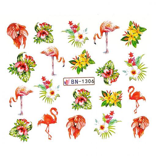 Poze Tatuaj unghii Flamingo BN-1306, LUXORISE