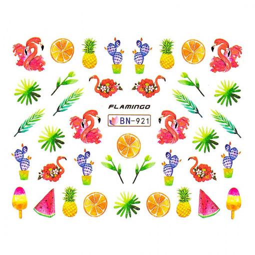 Poze Tatuaj unghii Flamingo BN-921, LUXORISE