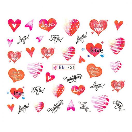 Poze Tatuaj Unghii Love BN-751, LUXORISE