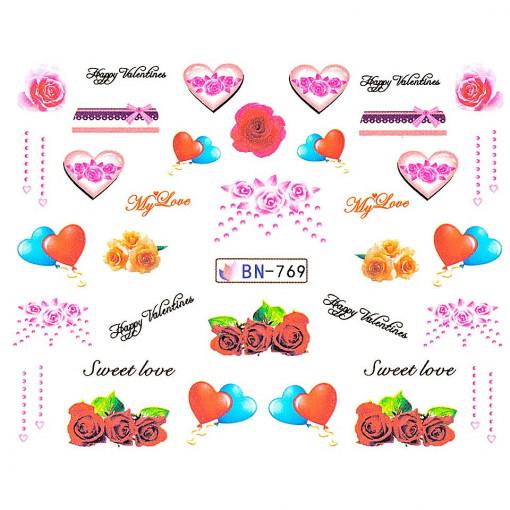 Poze Tatuaj unghii Love BN-769, LUXORISE