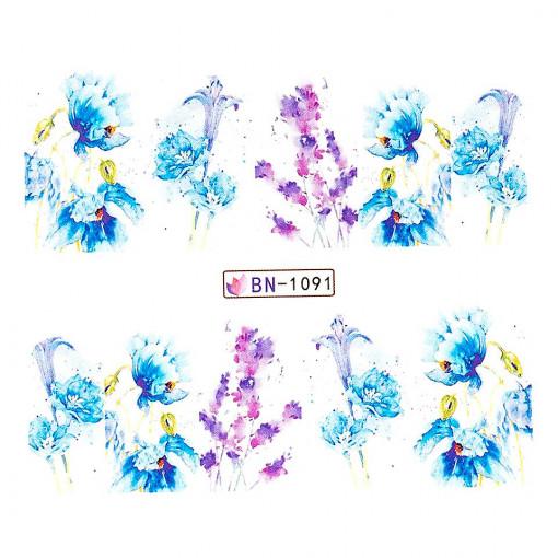 Poze Tatuaj unghii Nature BN-1091, LUXORISE