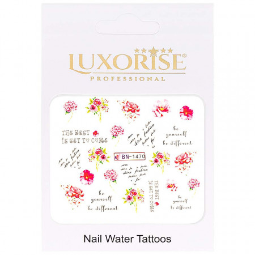 Poze Tatuaj Unghii Nature BN-1470, LUXORISE