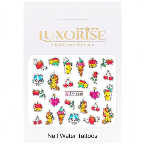 Poze Tatuaj Unghii Unicorn BN-1060, LUXORISE