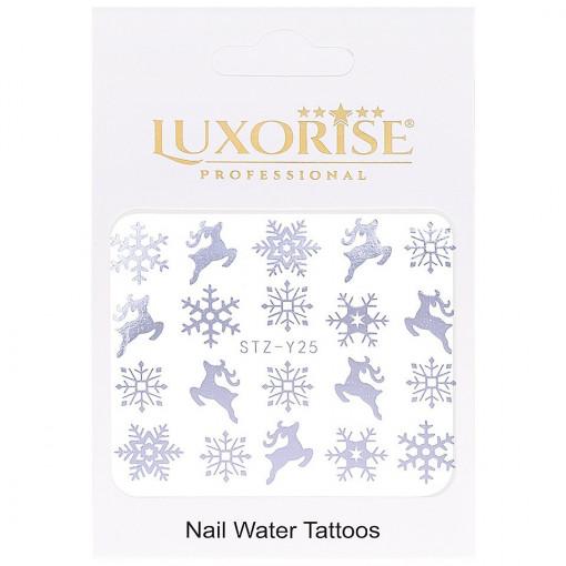 Poze Tatuaj unghii WinterSTZ-Y25 argintiu LUXORISE