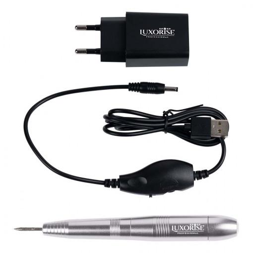 Poze Freza Unghii cu Capat USB Titanium Travel, LUXORISE, Silver