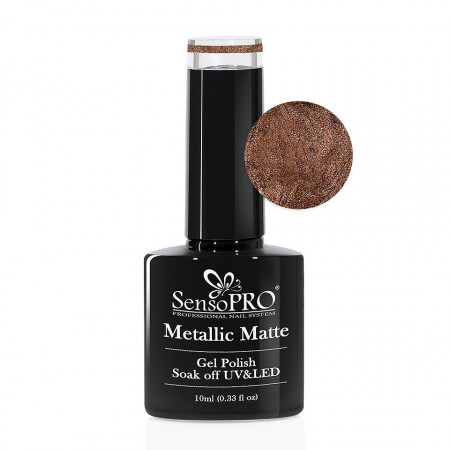 Poze Oja Semipermanenta Metallic Matte SensoPRO #012 Twilight Dough, 10ml
