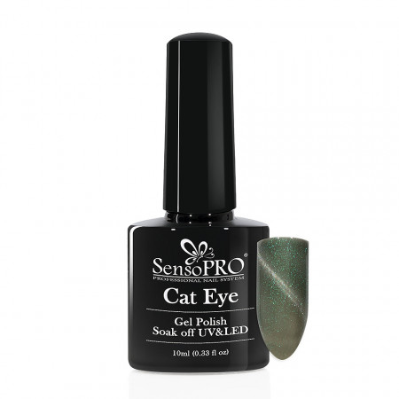 Poze Oja Semipermanenta SensoPRO Cat Eye Fairy Green #033, 10ml