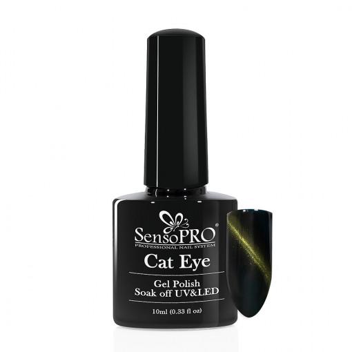 Poze Oja Semipermanenta SensoPRO Cat Eye Lucky Green #043, 10ml