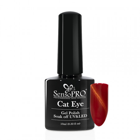 Poze Oja Semipermanenta SensoPRO Cat Eye RubyRed #026, 10ml
