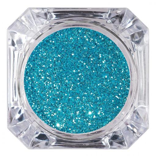 Poze Sclipici Glitter Unghii Pulbere Caribbean Blue #12, LUXORISE