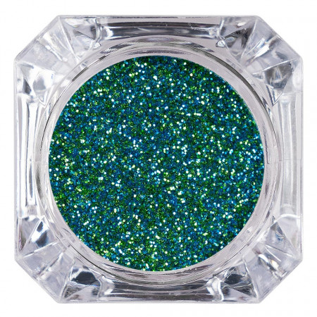 Poze Sclipici Glitter Unghii Pulbere Green Glow #54, LUXORISE