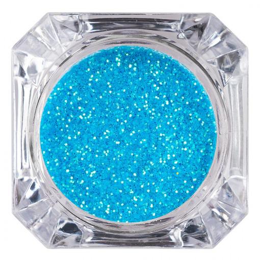 Poze Sclipici Glitter Unghii Pulbere Ice Blue #49, LUXORISE