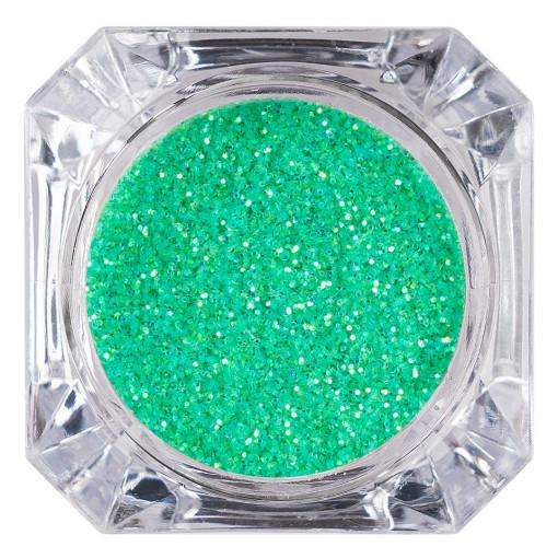 Poze Sclipici Glitter Unghii Pulbere Verde Aprins #34, LUXORISE