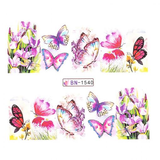 Poze Tatuaj Unghii Butterfly BN-1540, LUXORISE
