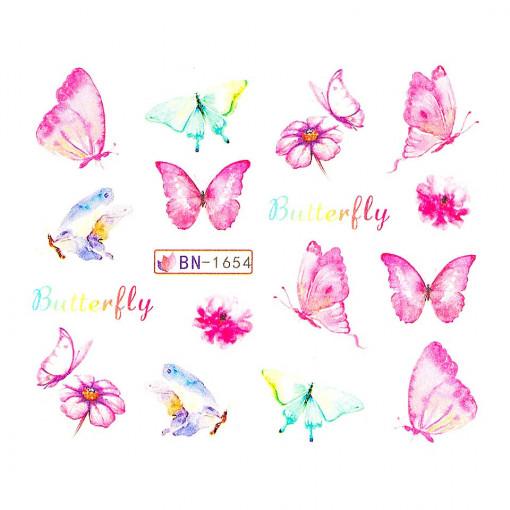 Poze Tatuaj Unghii Butterfly BN-1654, LUXORISE