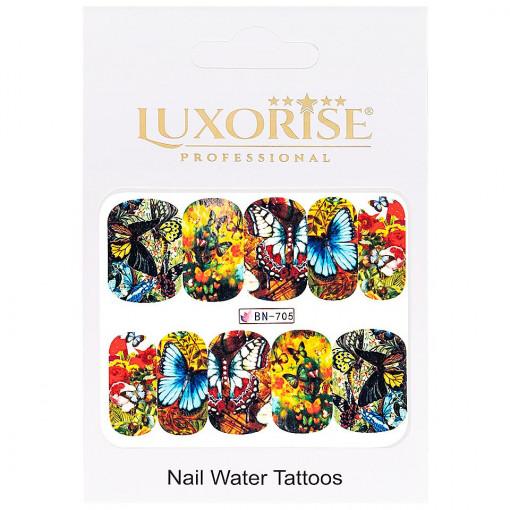 Poze Tatuaj Unghii Butterfly BN-705, LUXORISE