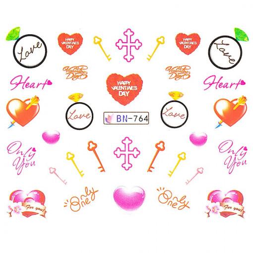 Poze Tatuaj Unghii Love BN-764, LUXORISE