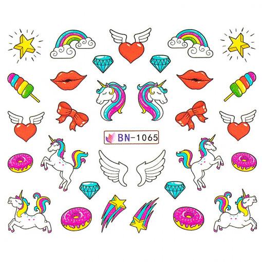 Poze Tatuaj Unghii Unicorn BN-1065, LUXORISE