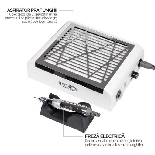 Poze Aspirator Praf Unghii cu Freza unghii 2 in 1 LUXORISE , Smart PRO Energy
