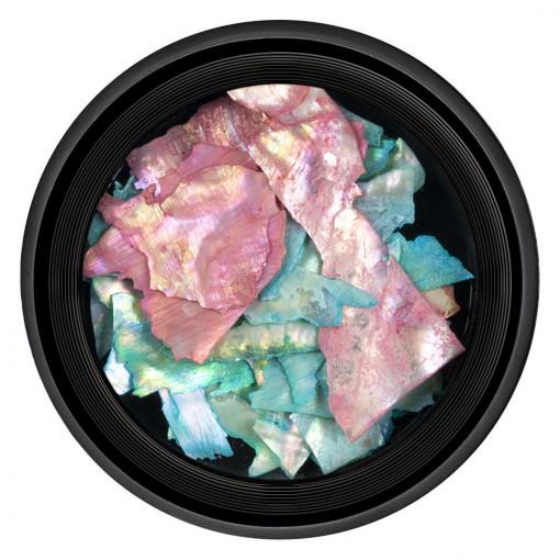 Poze Decor Unghii tip Scoica Pisata Multicolor, LUXORISE
