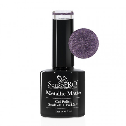 Poze Oja Semipermanenta Metallic Matte SensoPRO #01 Dark Lava, 10ml