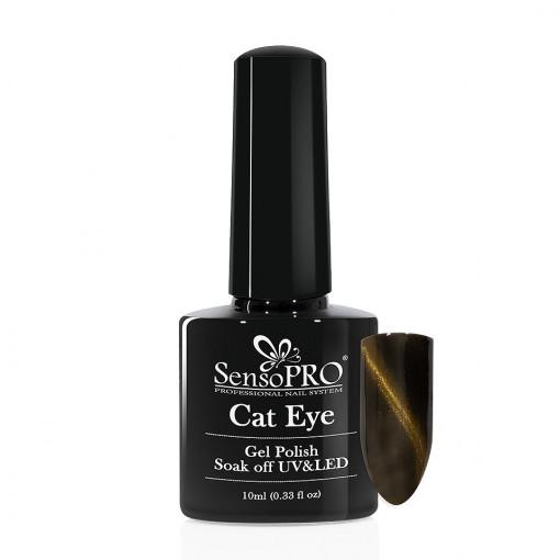 Poze Oja Semipermanenta SensoPRO Cat Eye Gold Dust #034, 10ml
