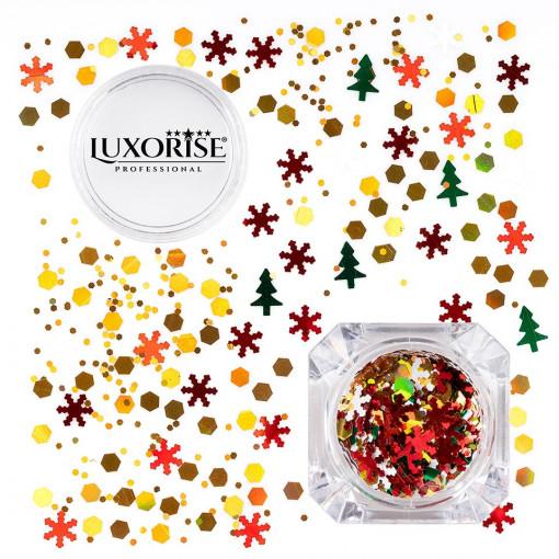 Poze Paiete Unghii LUXORISE #01 Christmas Joy