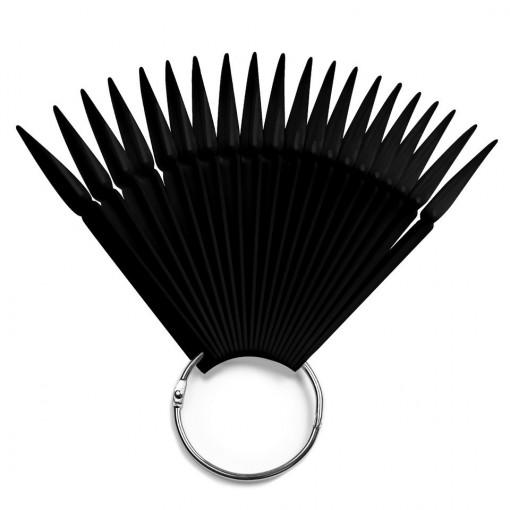 Poze Paletar pentru Unghii Stiletto Exersare si Expunere - 40 Palete Unghii False , negru