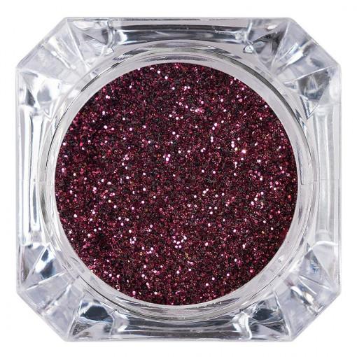 Poze Sclipici Glitter Unghii Pulbere Dark Cherry #25, LUXORISE