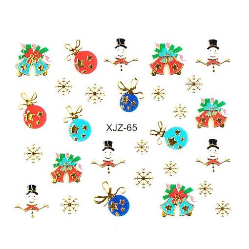 Poze Sticker 3D Unghii Adventure XJZ-65 Christmas Collection, LUXORISE