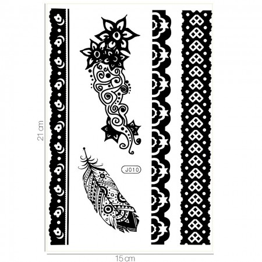 Poze Tatuaj Temporar LUXORISE Strong Feathers J010