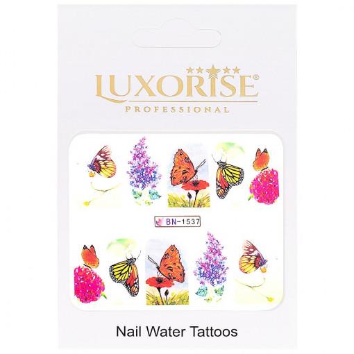 Poze Tatuaj Unghii Butterfly BN-1537, LUXORISE