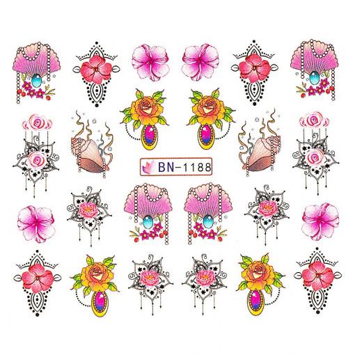 Poze Tatuaj unghii Fantasy BN-1188, LUXORISE