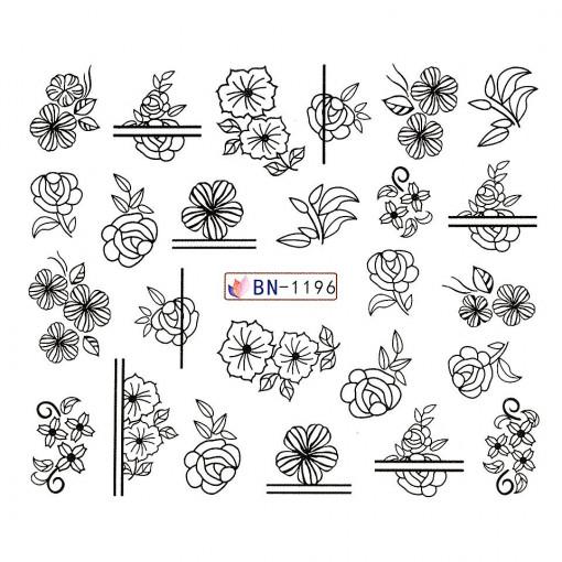 Poze Tatuaj unghii Fantasy BN-1196, LUXORISE