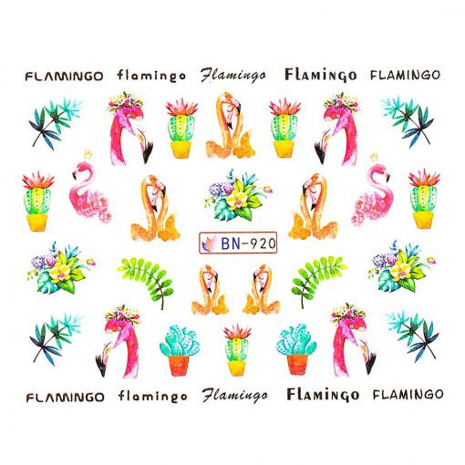 Poze Tatuaj unghii Flamingo BN-920, LUXORISE